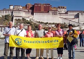 Our Tour Group at Potala Palace