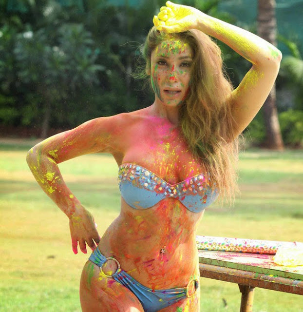 Sofia Hayat Holi 2015 Pictureshoot in Bikini Pictures 8.jpg
