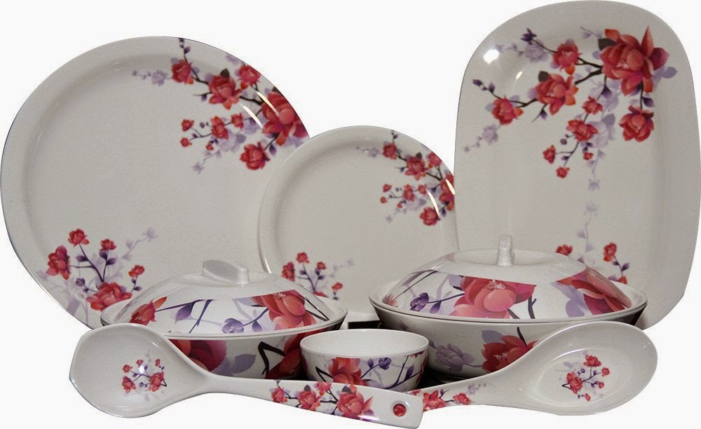 Q'Bon Imperial Cherry Blossom Dinner Set, 40-Pieces for Rs 2530