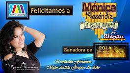 MONICA RESENDIZ GANADORA A PREMIOS LO MEJOR 20014