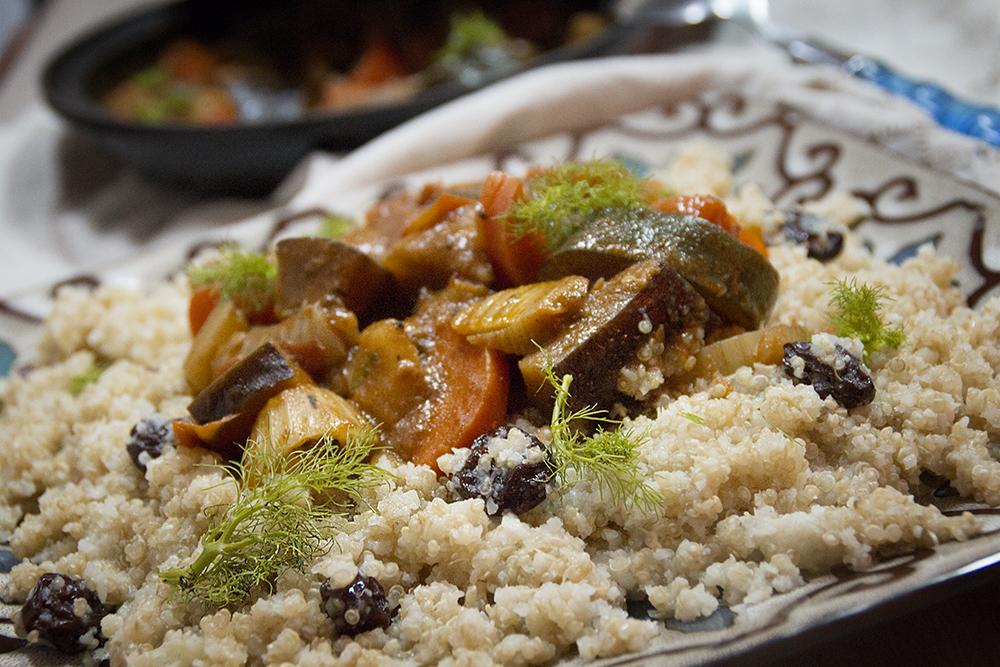 Dvicio cuscus de quinoa y coliflor con verduras - Cocinar quinoa con verduras ...