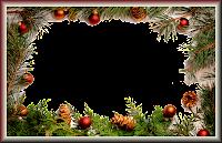 Moldura de Natal com fundo transparente - 7