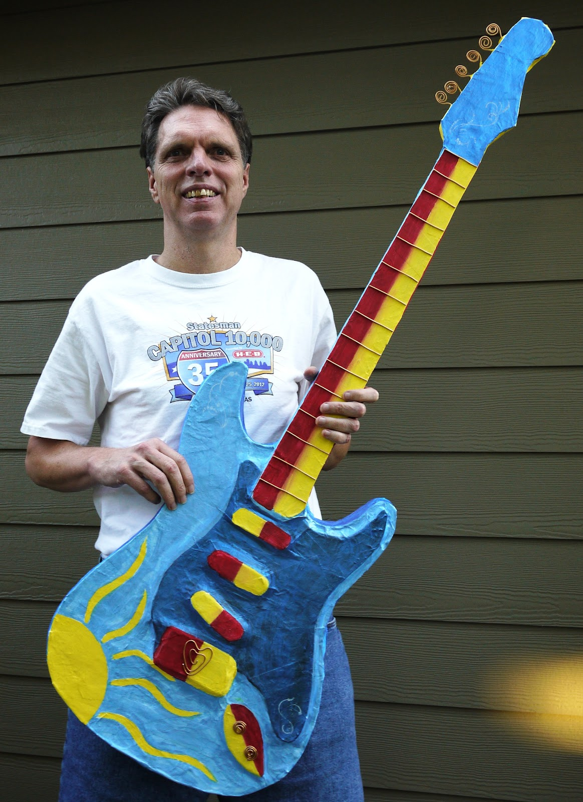 I used the copper wire for frets and knobs on the Jack plate. Then I sprayed it all with the clear glaze. Voila! The Ultimate Paper Mache Guitar!  sc 1 st  Tom Hokanson & The Ultimate Paper Mache Guitar | Tom Hokanson
