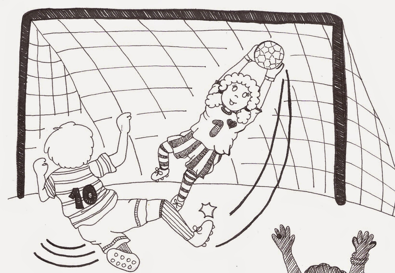 Day 47 drawing a footballer with dave cousin