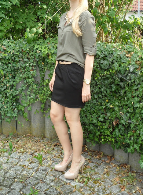 Fashion Look Khaki Bluse Business Style Office wear