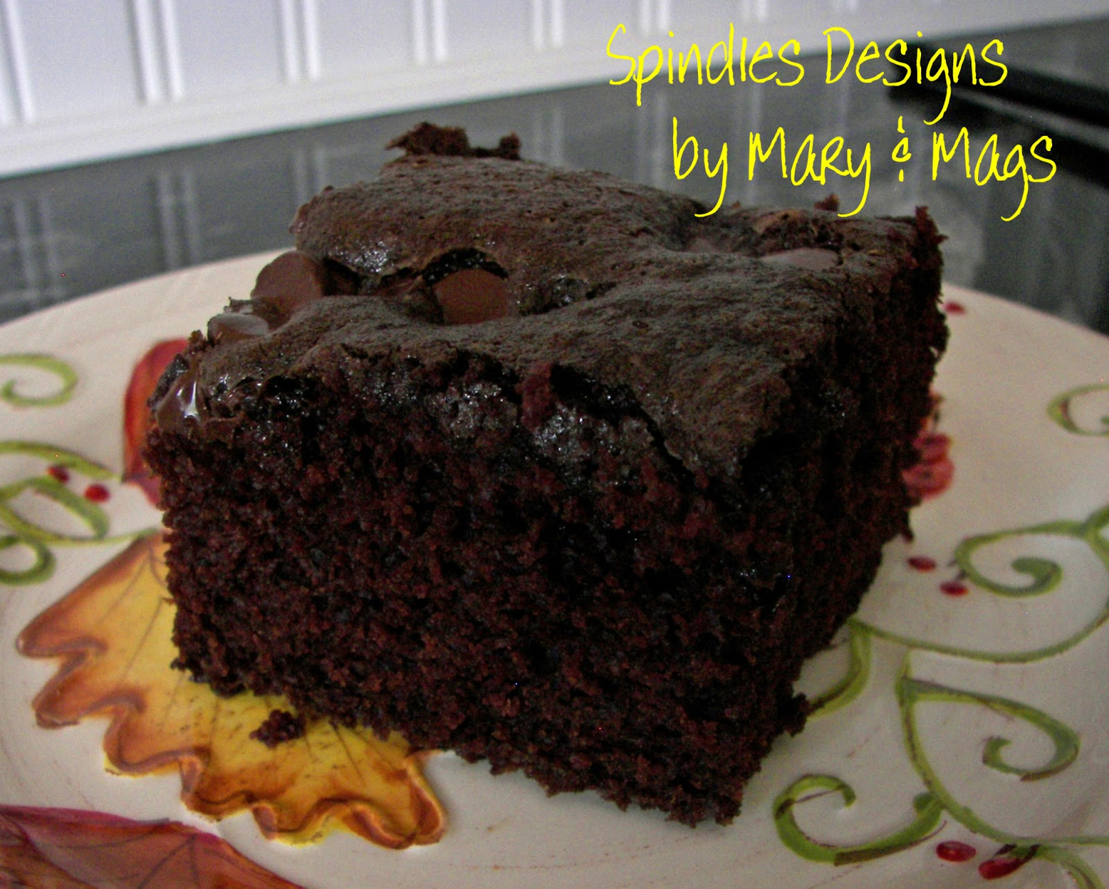 Chocolate Snack Cake - Spindles Designs by Mary and Mags