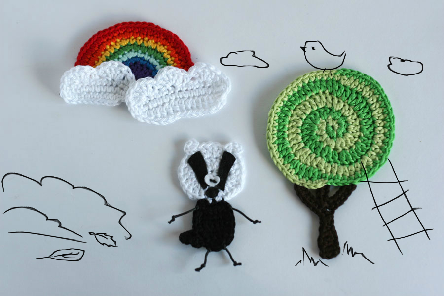 Woodland creatures - badger applique