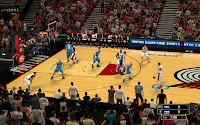 NBA 2K13 Portland Trail Blazers Court Patch