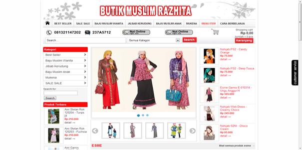 Butik Muslim , polisi online