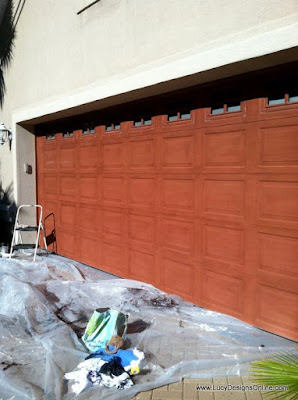 garage door before and after paint makeover