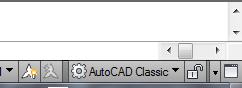 menggunakan setting toolbar Autocad classic