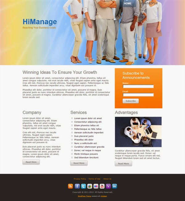 Hi Manage - Free Wordpress Theme