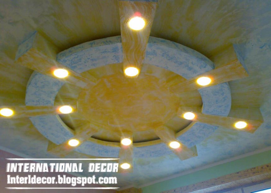 Modern False Ceiling Design Sun Theme For Kids Room Interior Part 80