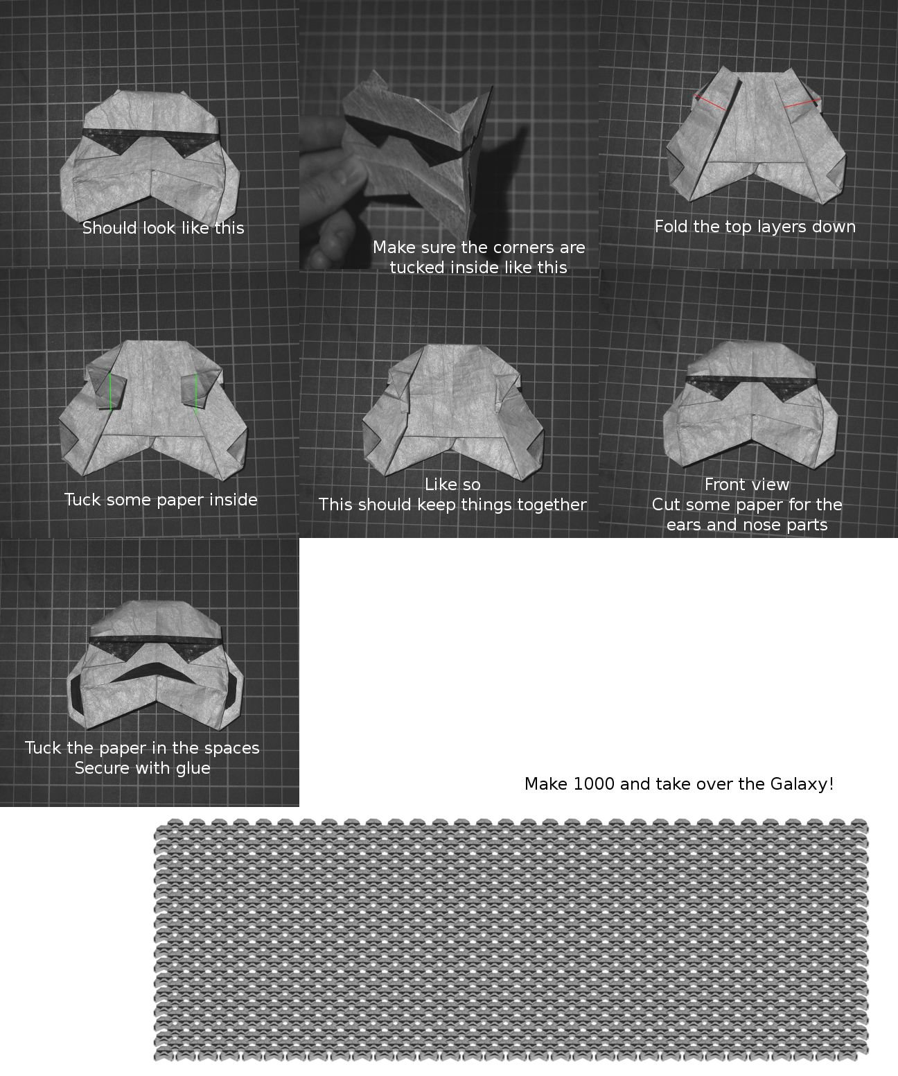 origami r2d2 finger puppet instructions