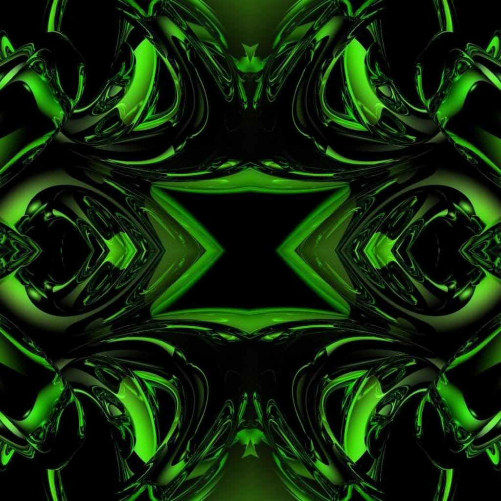 Black And Green Wallpaper Abstract