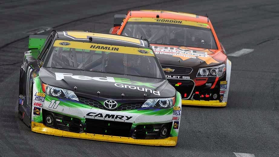 Chase Challengers Denny Hamlin and Jeff Gordon experienced difficulties in the Sylvania 300.