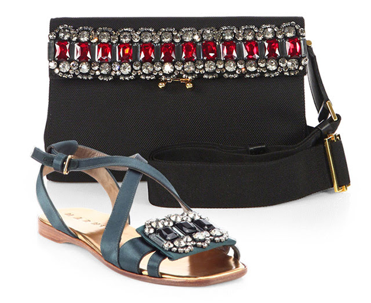 Marni bejeweled ss14 accessories