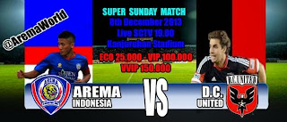 Arema vs DC United Battle Of The Stars 2013