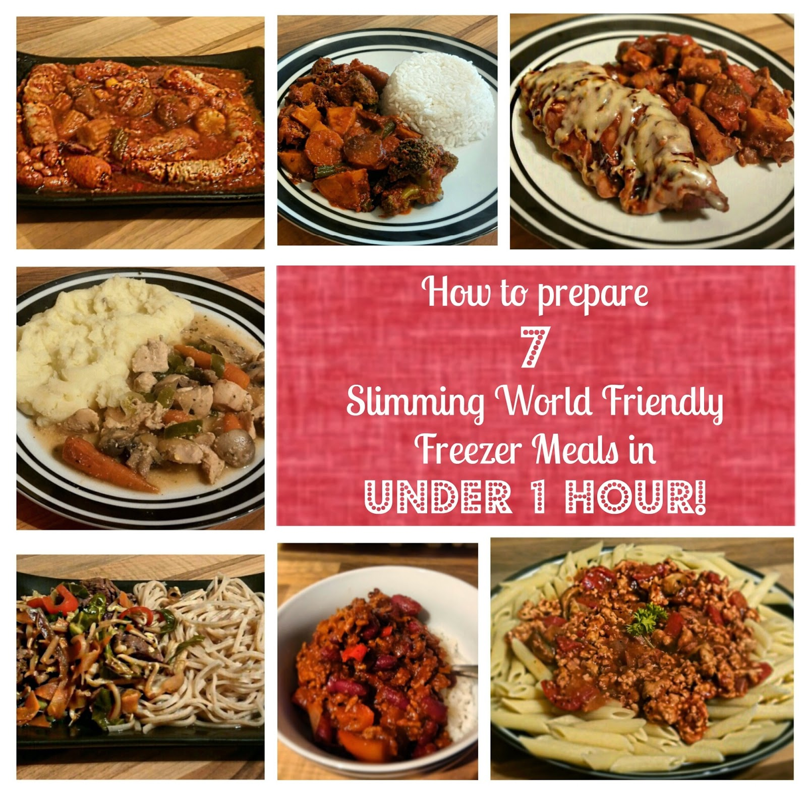 Sugar pink food how to prepare 7 slimming world friendly freezer meals in under 1 hour Slimming world meal ideas