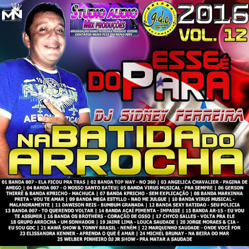 CD NA BATIDA DO ARROCHA VOL 12 - 2016 (STUDIO AUDIO MIX PRODUÇÕES)