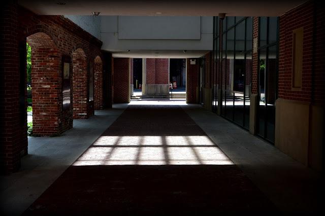 Salem Armory, skylight, shadow, Salem, Massachusetts
