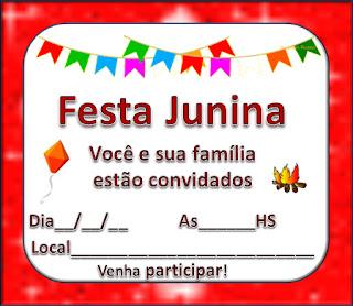 Convites de festa junina para imprimir