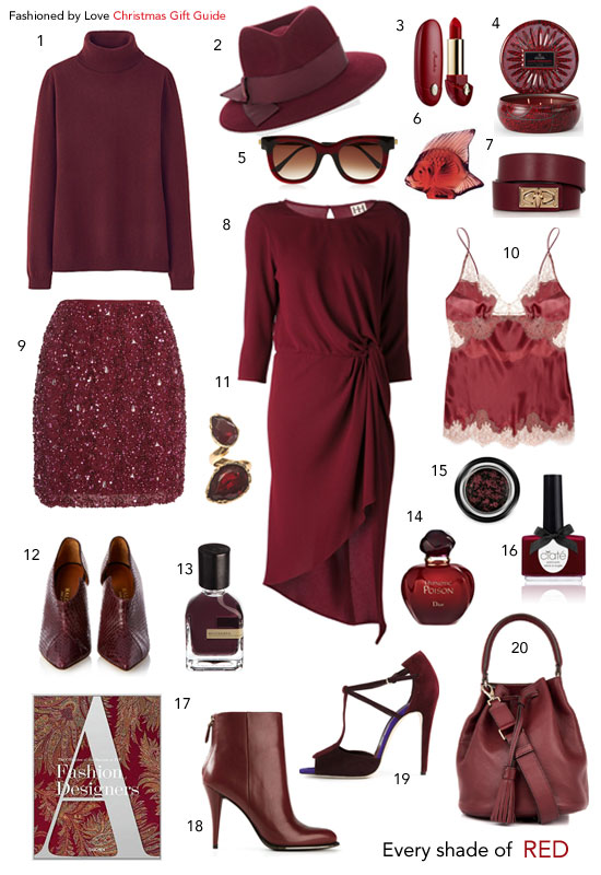 via fashioned by love | christmas gift guide in marsala | pantone colour of 2015 | shopping ideas | christmas gifts for her | christmas gift ideas for all budgets