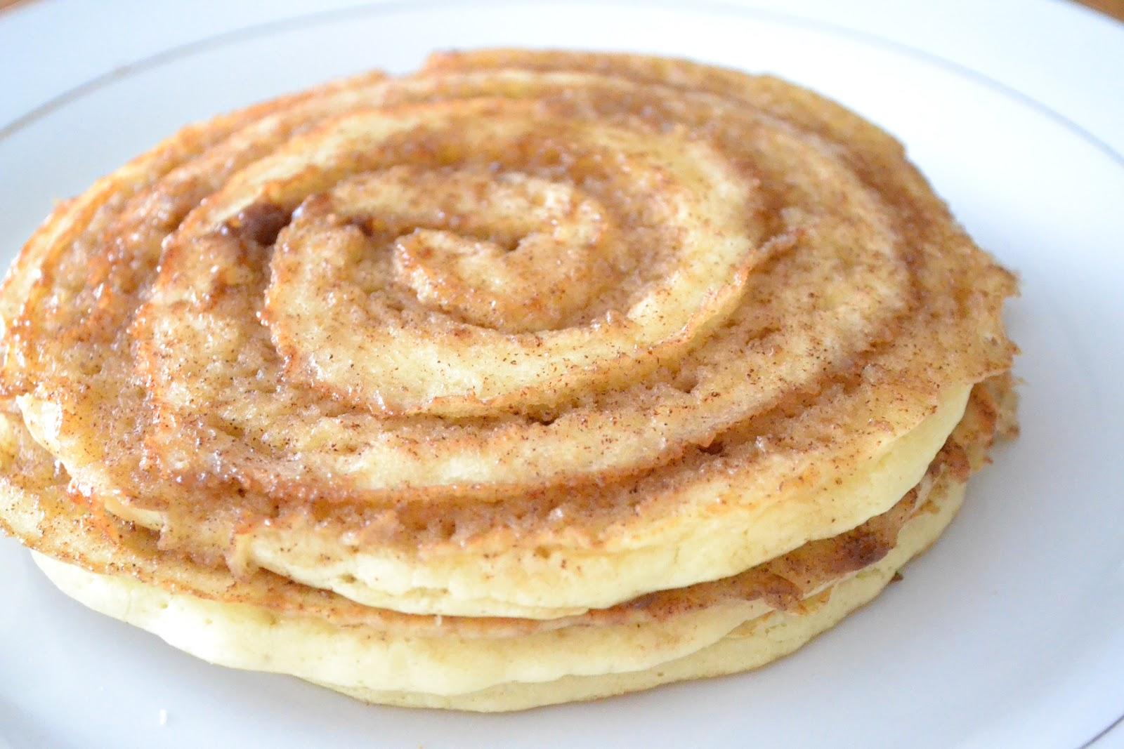 ... serve, spoon warmed cream cheese glaze on top of each pancake. Enjoy