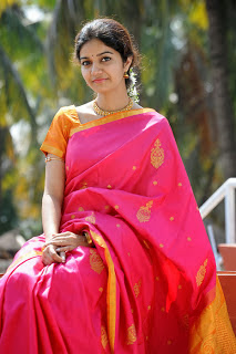 Swathi In Pink Silk Saree