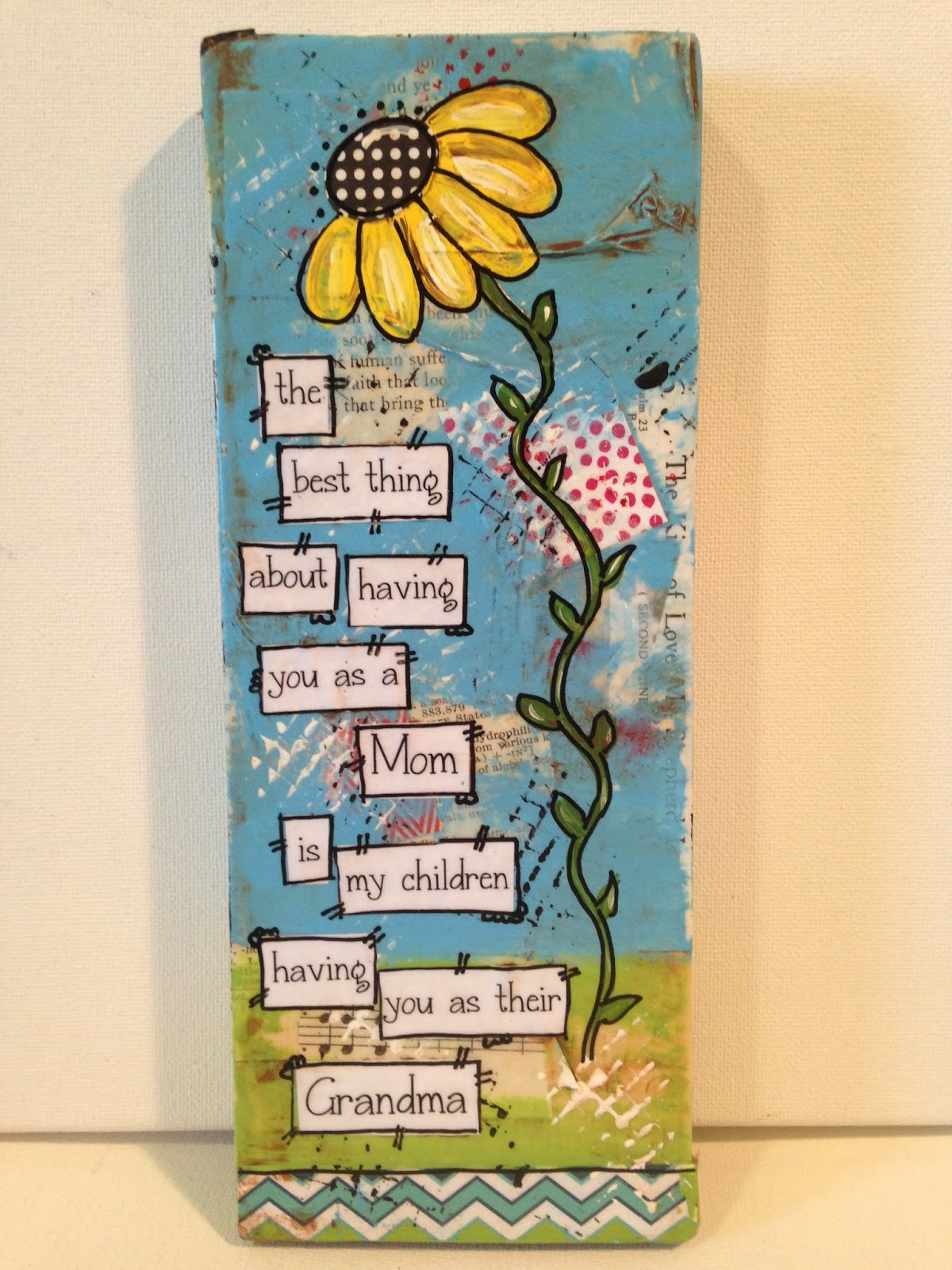 mother's day gift, grandmothers, day, mom, wall decor, mixed media