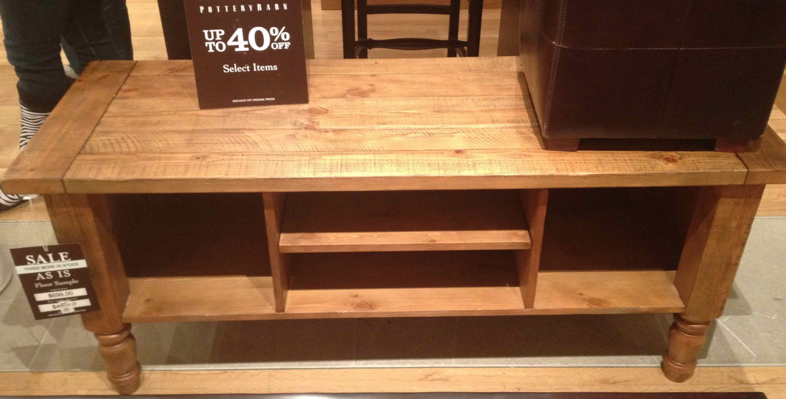Pottery Barn 39 S Winter Floor Model Sale Driven By Decor