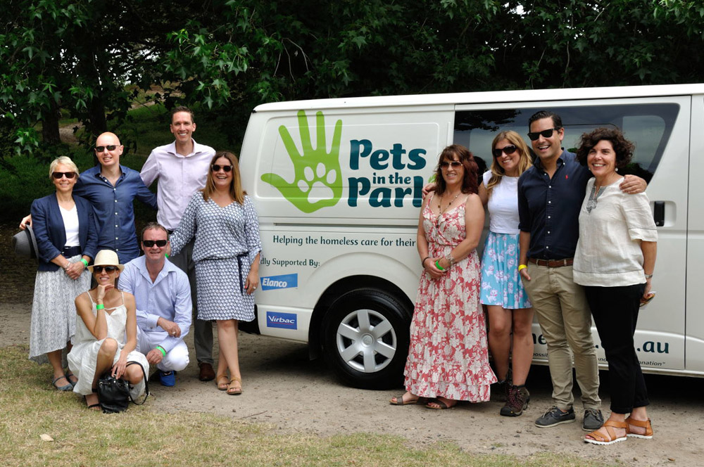 The board and sponsors, Pets In The Park Gala Picnic, Centennial Park Sydney. Photographed by Unique Event Photography Sydney.