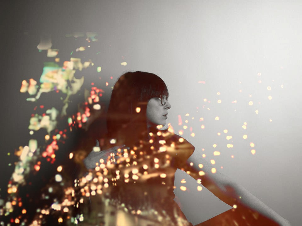 double exposure, girl, fashion, city, lights, city lights,