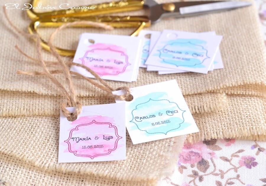 etiquetas personalizadas acuarela detalles bodas