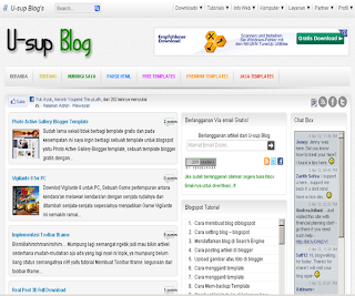 Silv White Blogger Template