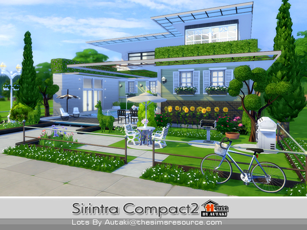 Casa moderna sirintra compact the sims 4 pirralho do game for Casas modernas sims 4 paso a paso