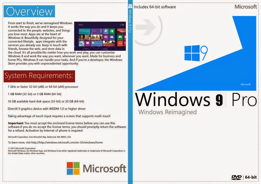 Download Microsoft Windows 9 Pro x64 PT-BR Windows 9 Capa XANDAODOWNLOAD