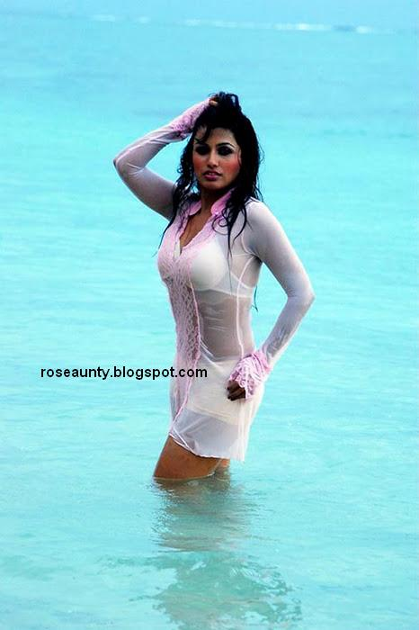 Aarthi Puri at Beach sexy