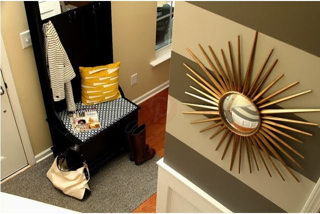 Bold Stripes in Entryway