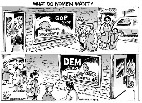 Republicans Offer Women Jobs    At Whatever Prices Employers Deign To Pay,  After The Minimum Wage Laws Are Eviscerated And Unions Are Eliminated, ...