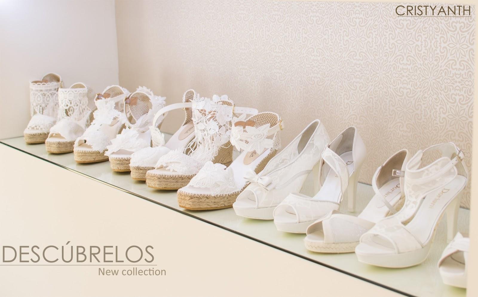 Vestidos de novia con zapatos