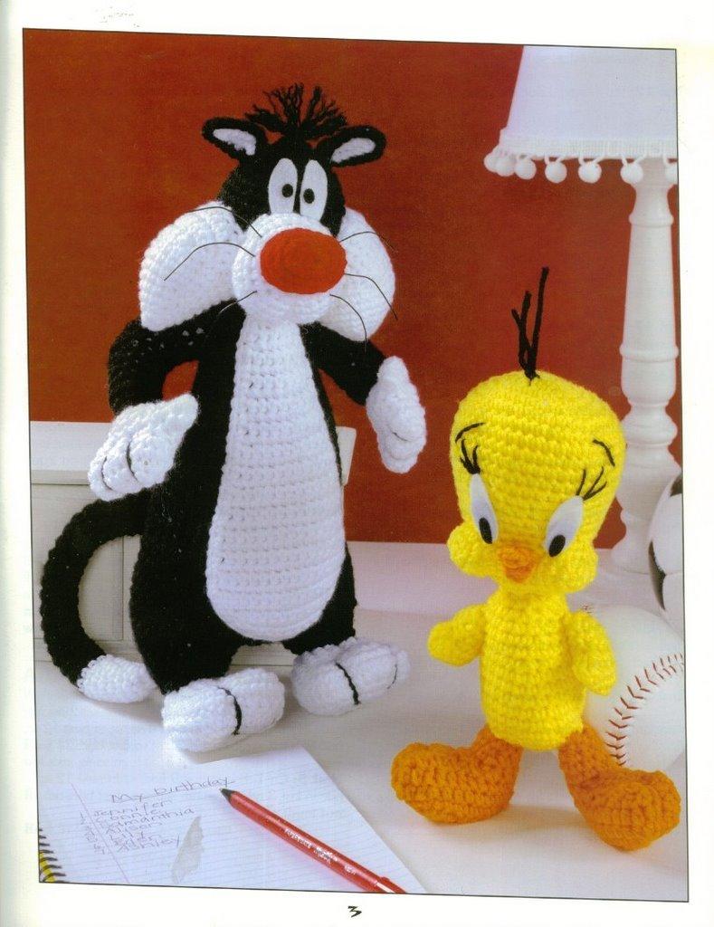 Amigurumi Tweety Yapilisi : Vallegurumi: Amigurumi Looney Tunes