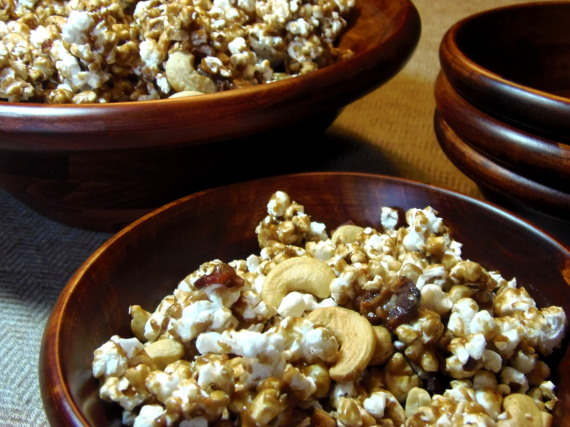 Cashew Bacon Caramel Corn - Kudos Kitchen by Renée