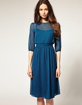 Vestido azul para novia