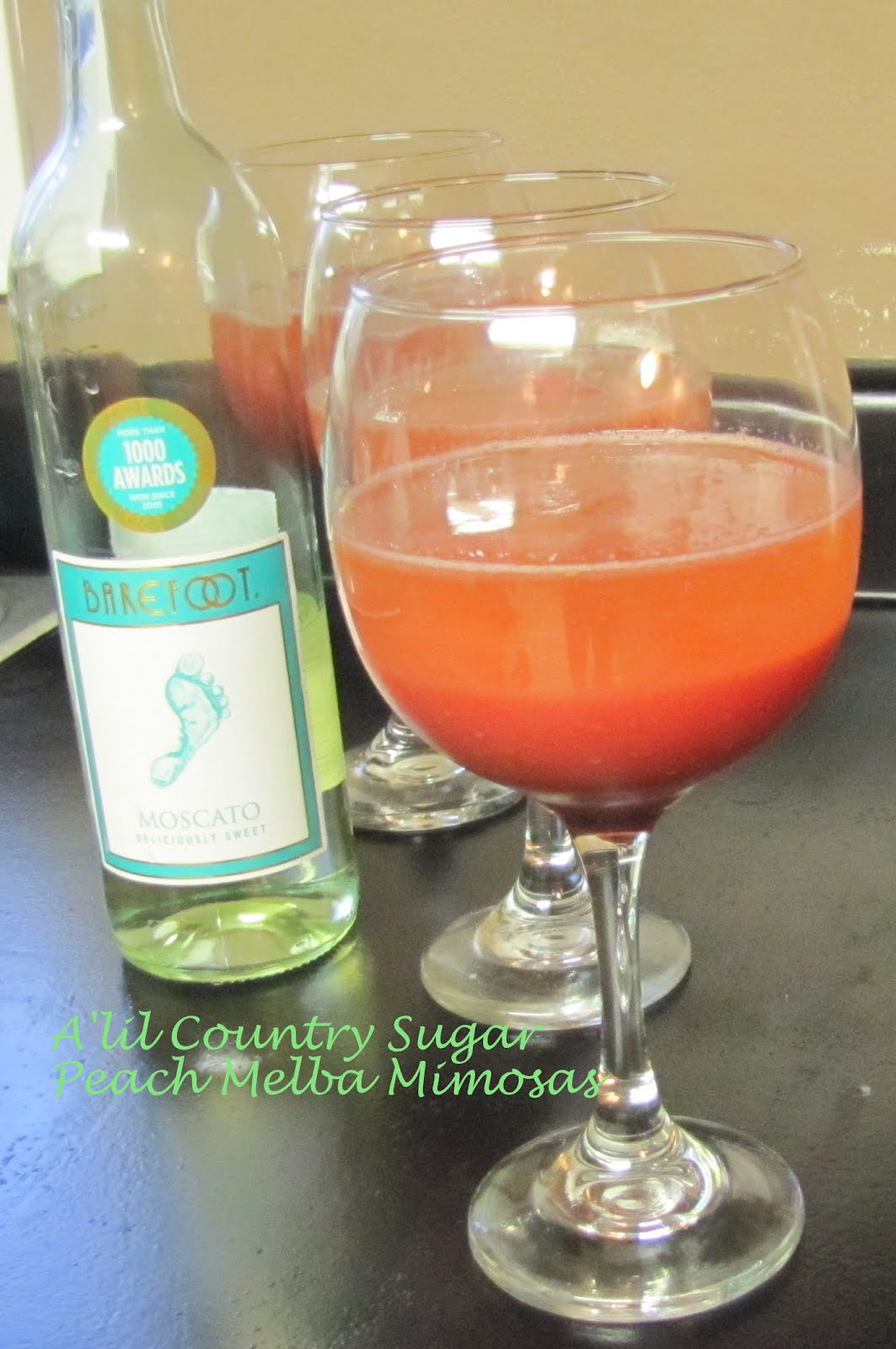 A 39 lil country sugar sometimes ya just gotta peach melba for How many mimosas per bottle of champagne