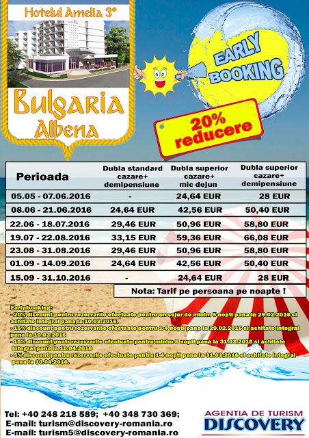 Early Booking Bulgaria statiunea Albena - Discovery Pitesti