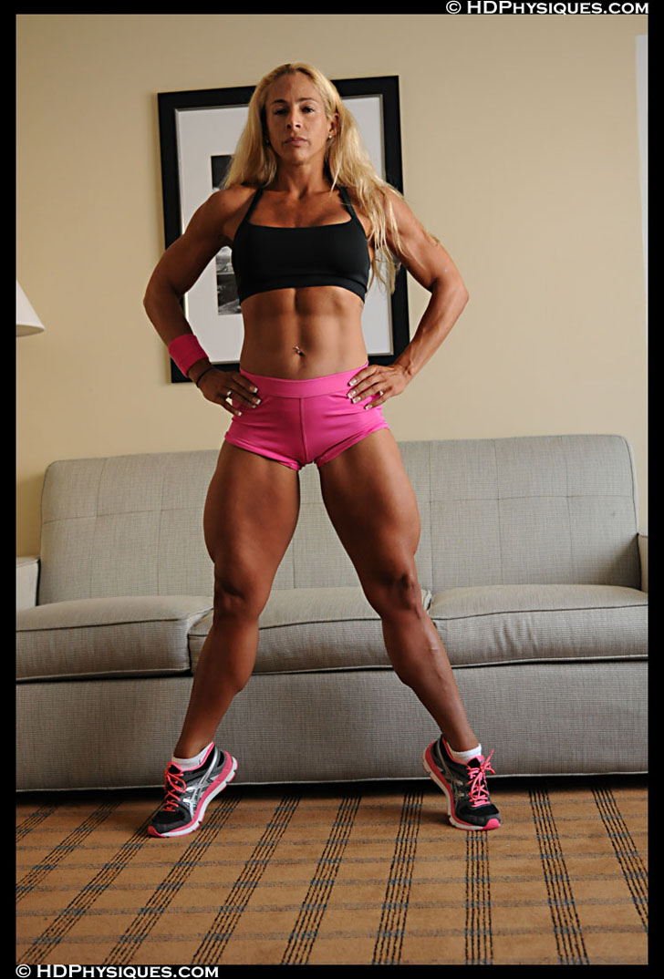 Jill Rudison Modeling Her Muscular Legs And Abs