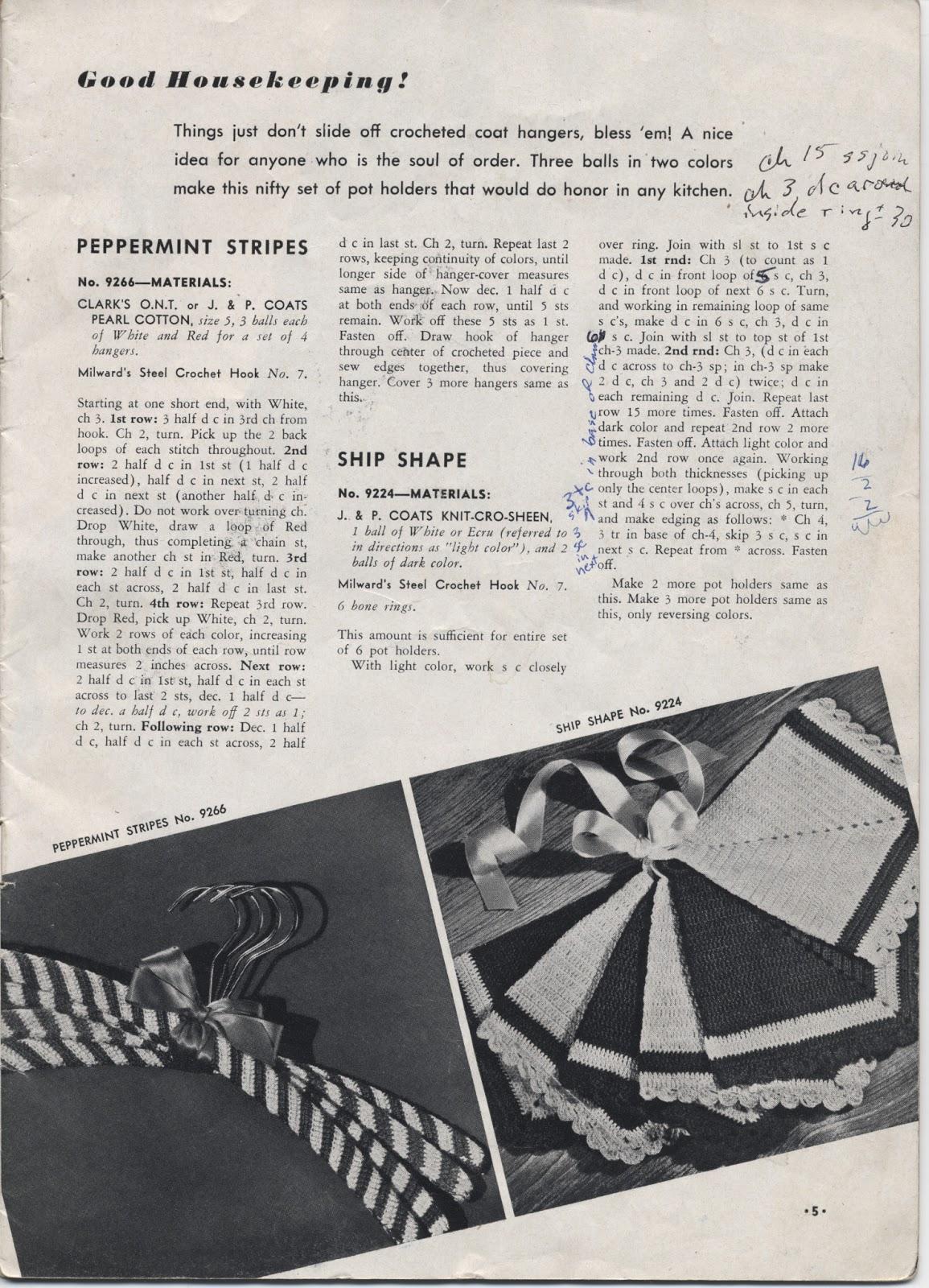 Firesign Farm Crocheted Vintage Diamond Potholders