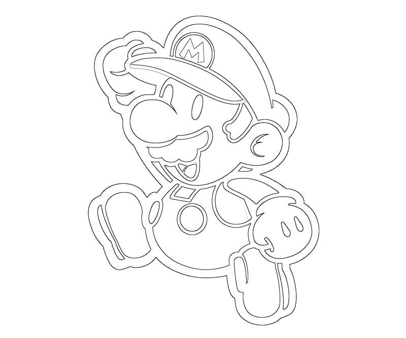 #3 Super Mario Coloring Page