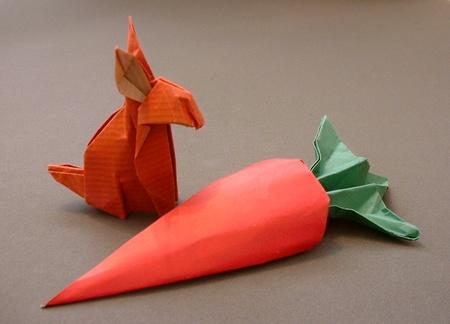 conejo origami papel